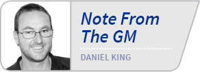 Note From The GM - Daniel King